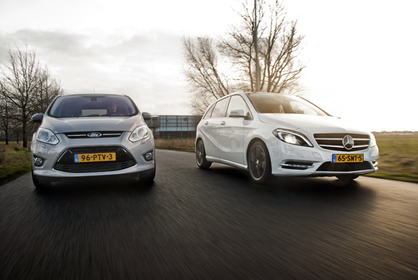 Mercedes B-Klasse vs. Ford C-Max